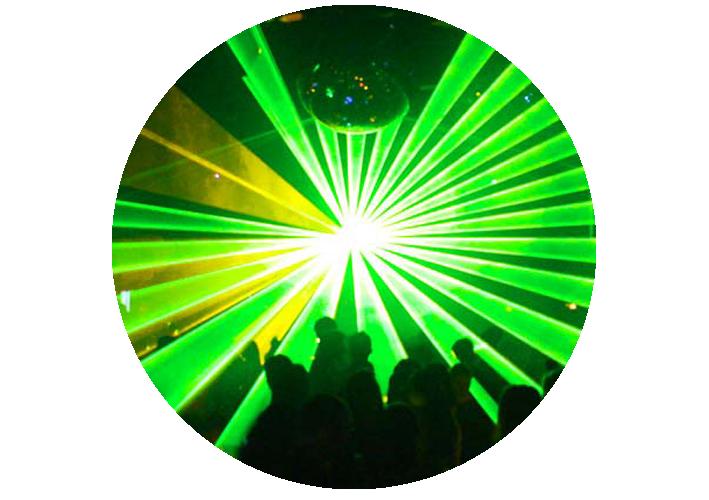 Lasershow op trouwerij