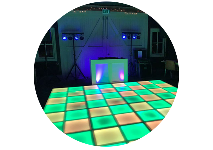 LED verlichte Dansvloer bij DJ