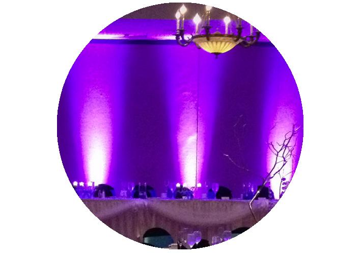 Uplights bij de Bruiloft DJ